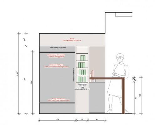 Plan für Umbau